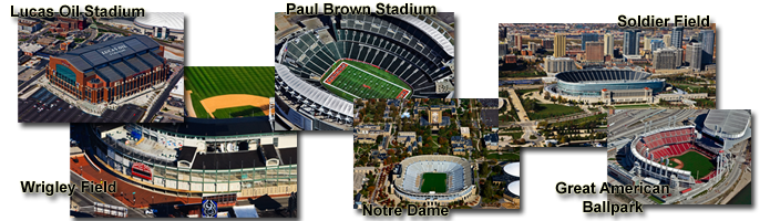 NFL MBL College Football Stadiums - Soldier - Lucas Oil - Wrigley - Notre Dame